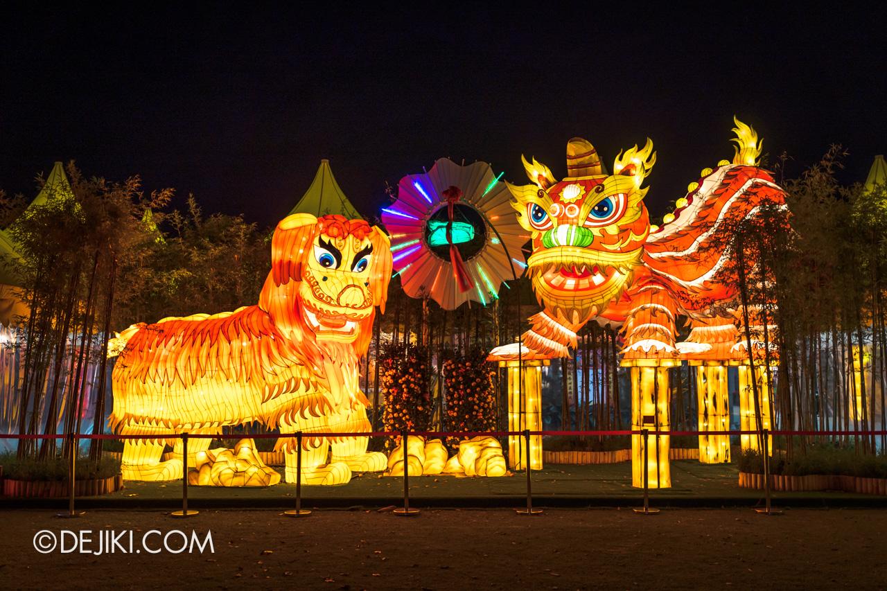 River Hongbao 2021 Lantern Display Lion Dance