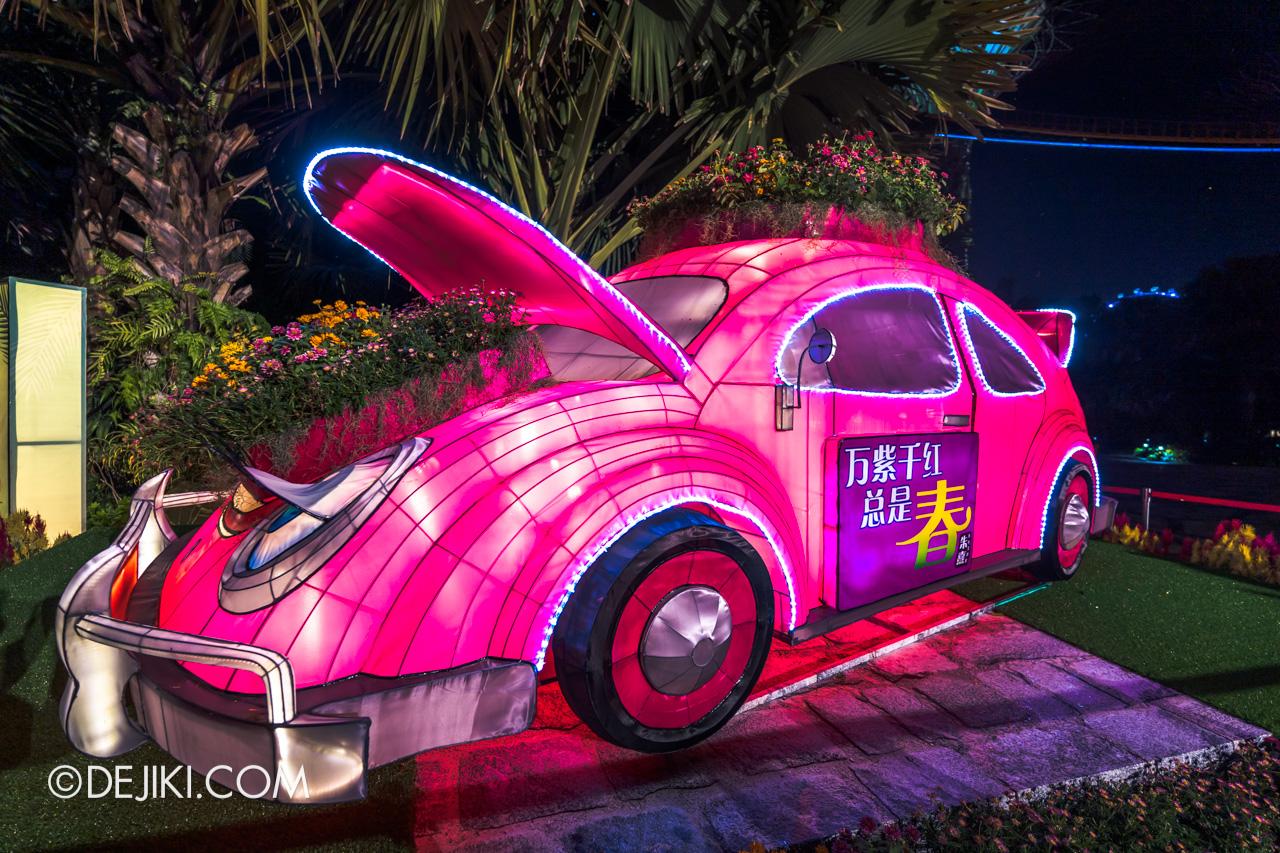 River Hongbao 2021 Lantern Display Purple Fantasy car