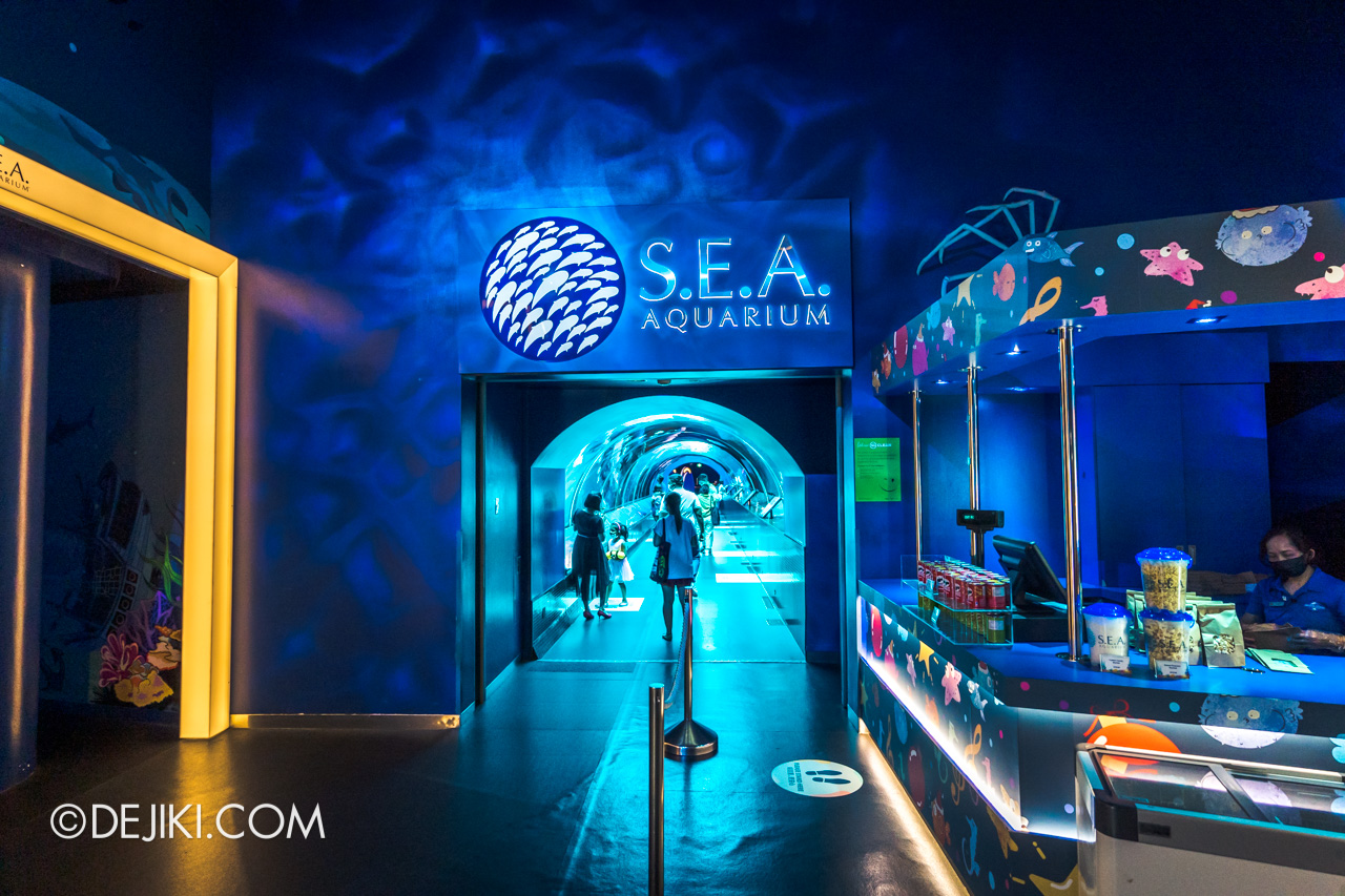 SEA Aquarium 2021 1 Shipwreck Tunnel entrance