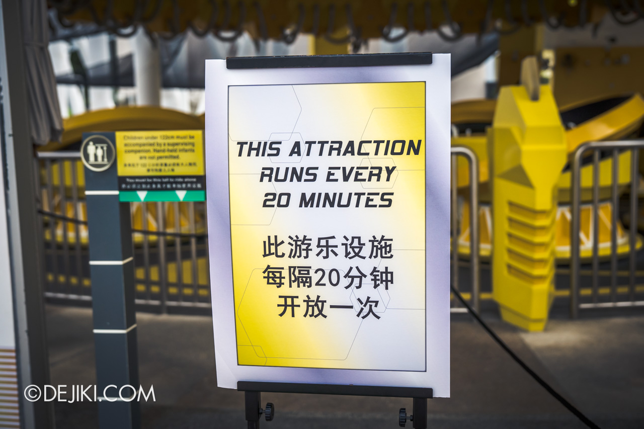 Universal Studios Singapore Park Update Feb 2021 20 minute cycle