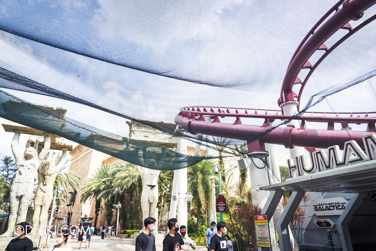 Universal Studios Singapore Park Update Feb 2021 Extended nets at Battlestar Galactica