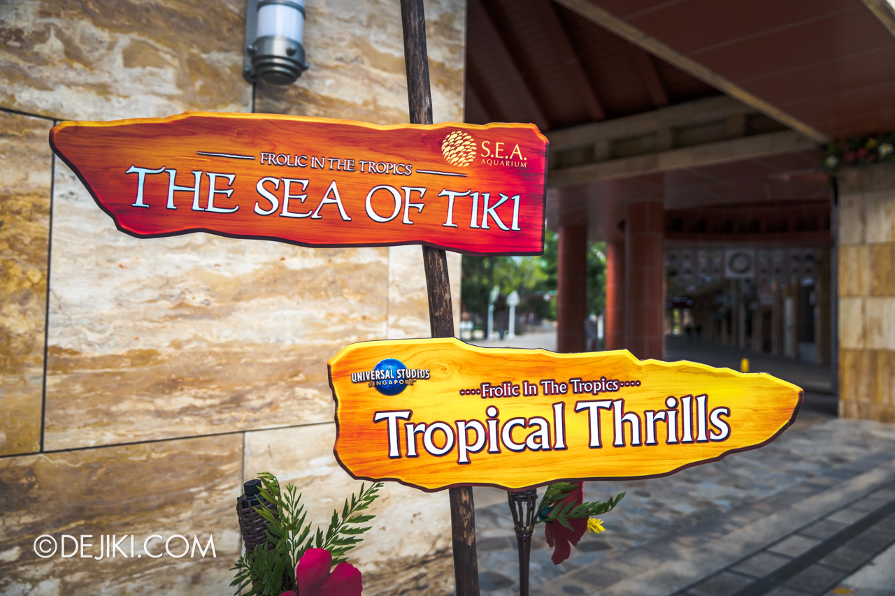 Universal Studios Singapore Park Update March 2021 Tropical Thrills Frolic in the Tropics sign