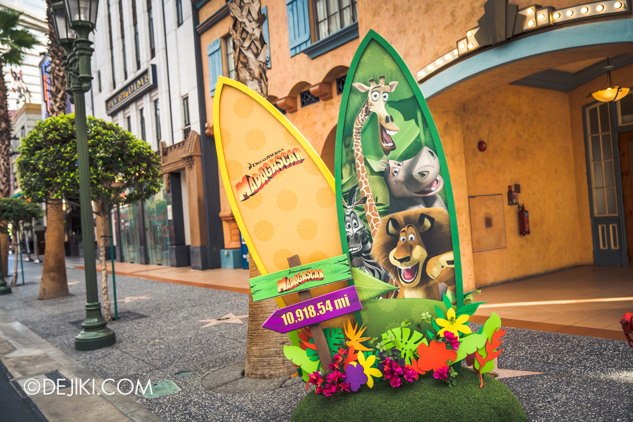 Universal Studios Singapore Park Update March 2021 Tropical Thrills Hollywood zone Madagascar surfboard