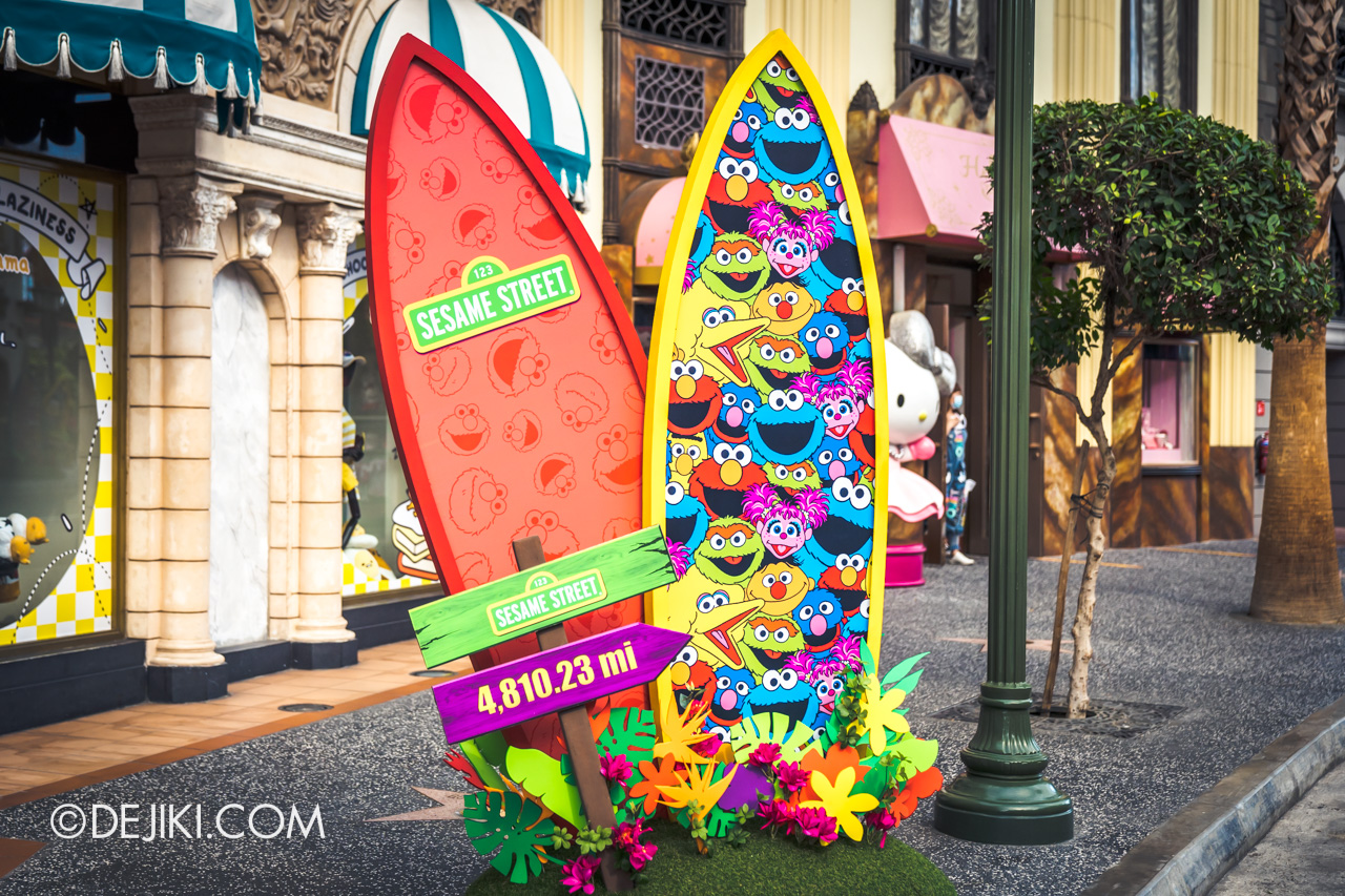 Universal Studios Singapore Park Update March 2021 Tropical Thrills Hollywood zone Sesame Street surfboard