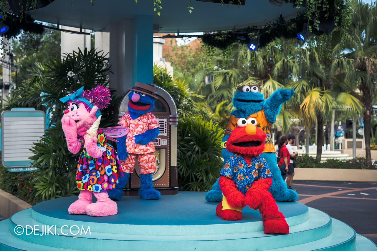 Universal Studios Singapore Park Update March 2021 Tropical Thrills Mels Stage Sesame Street Meet and Greet 2