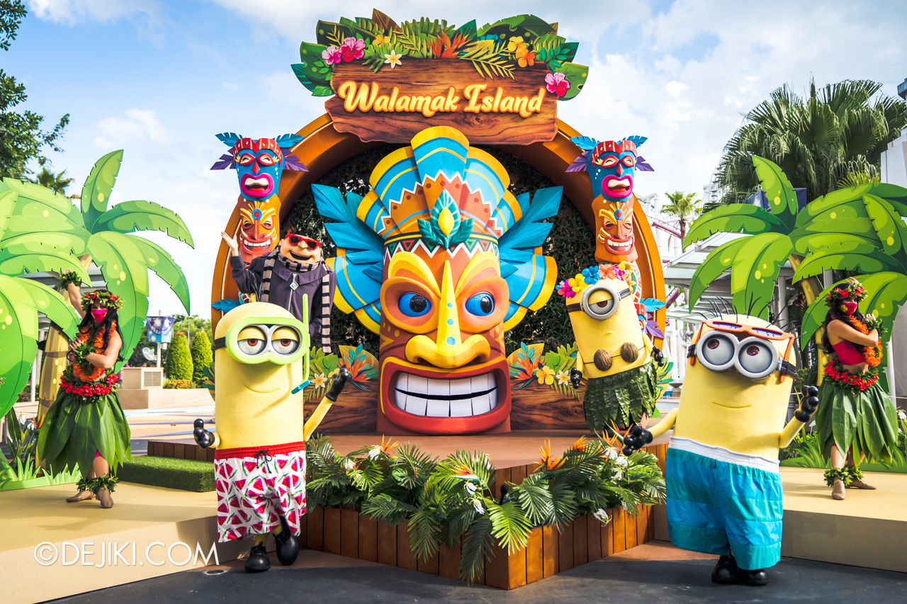 Universal Studios Singapore Park Update March 2021 Tropical Thrills Walamak Island Despicable Me Minions and Gru 2