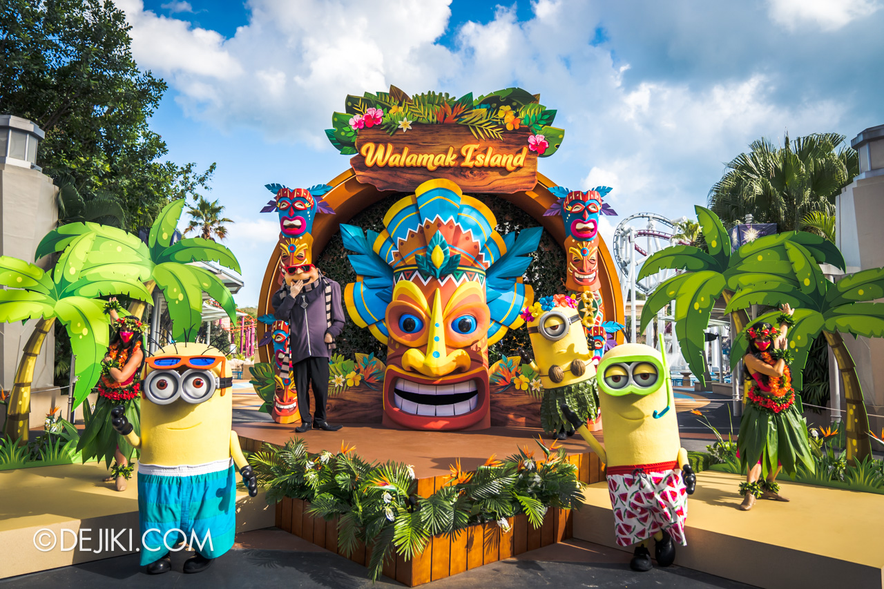 Universal Studios Singapore Park Update March 2021 Tropical Thrills Walamak Island Despicable Me Minions and Gru