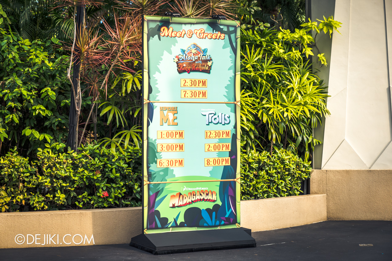 Universal Studios Singapore Park Update March 2021 Tropical Thrills Walamak Island Time Board