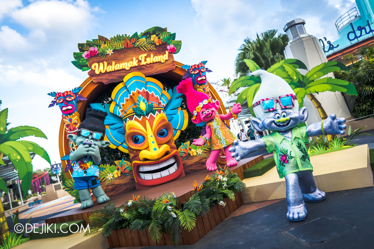 Universal Studios Singapore Park Update March 2021 Tropical Thrills Walamak Island Trolls Branch Poppy Guy Diamond
