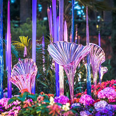 Gardens by the Bay 2021 Chihuly in Bloom sq1