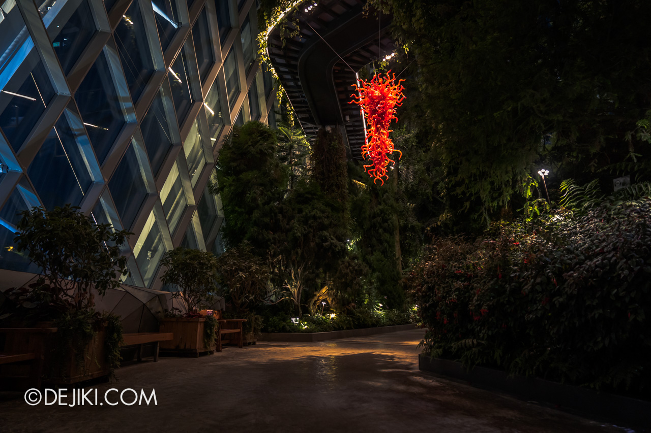 Gardens by the Bay Chihuly in Bloom Cloud Forest Ruby Red Chandelier