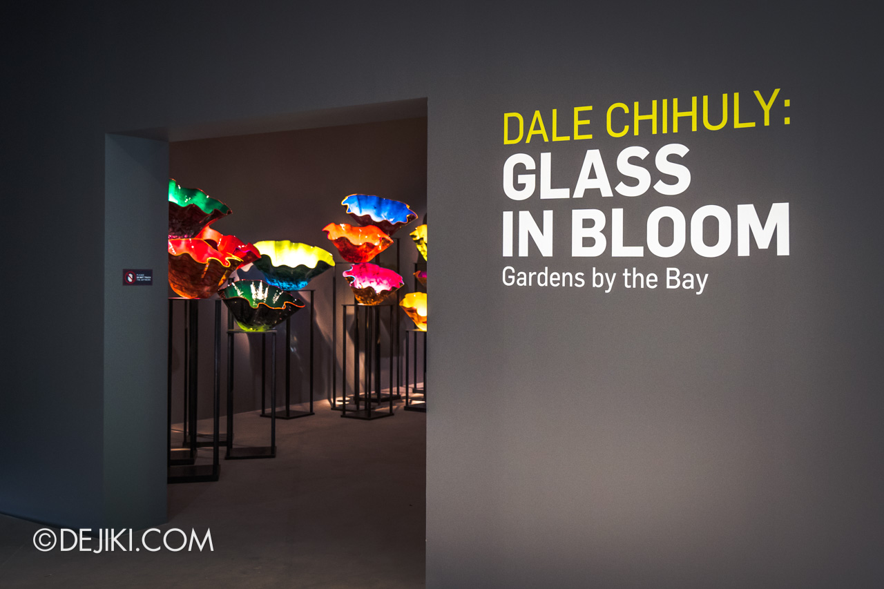 Gardens by the Bay Dale Chihuly Glass in Bloom Gallery entrance